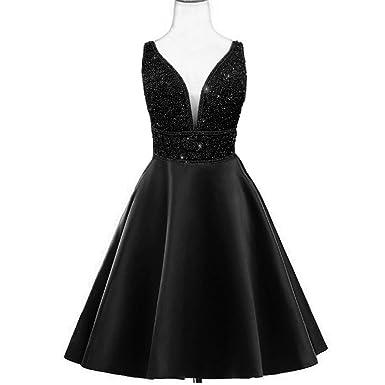abb4331dd0f MEILISAY Women s Beaded Homecoming Dresses V-Neck Short Prom Dresses 2018