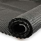 fowong Mutipurpose Large Non-Slip Mat,150 x 100 cm PVC Grid Pattern Anti-Slip Gripper Roll, Shelf Drawer Insert Liner,Waterproof Non-Slip Liner Mat for Floor Rug,Car Roof Rack-Black