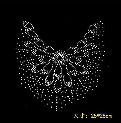 Buy Generic 2pc lot big flower iron rhinestone transfer designs iron on  transfer sticker designs hot fix rhinestone motif design hot fix Online at  Low ... 863e274d95f2