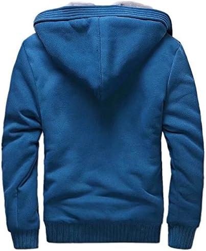 ANBEI Mens Winter Warm Outwear Coats Full Zip Eco Sherpa Fleece Hoodie Jackets
