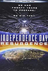 INDEPENDENCE DAY: ResurgenceBONUS FEATURES- Deleted scenes- The war of 1996- Director's audio commentary- Gag reel- Concept art galleries- It's early, ABQ!  Two decades after the freak alien invasion that nearly destroyed mankind a new threat...