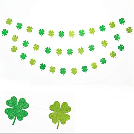 NEW Four Leaf Clover Paper Garlands Party Wedding Home Decoration Beautiful Wed