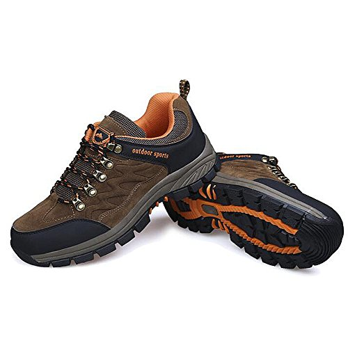 sale fashion Style Men's Casual Shoes Dress Mountain Climbing Autumn Outdoor Soft Bottom Sport Shoes Slip On Black-brown Brown clearance outlet store ykJ8LBwLdM