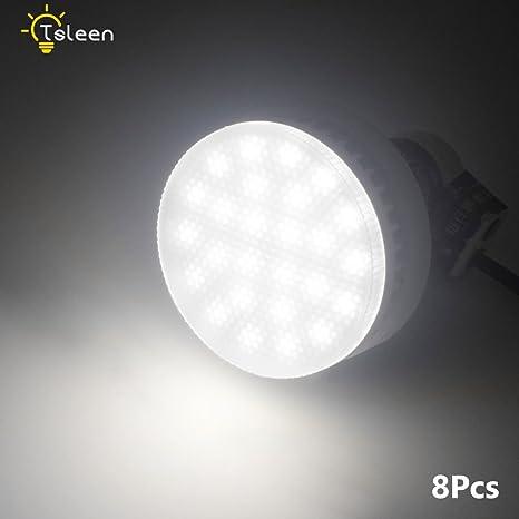 8 bombillas LED GX53 110/220 V 5 W luz blanca fría para salón o