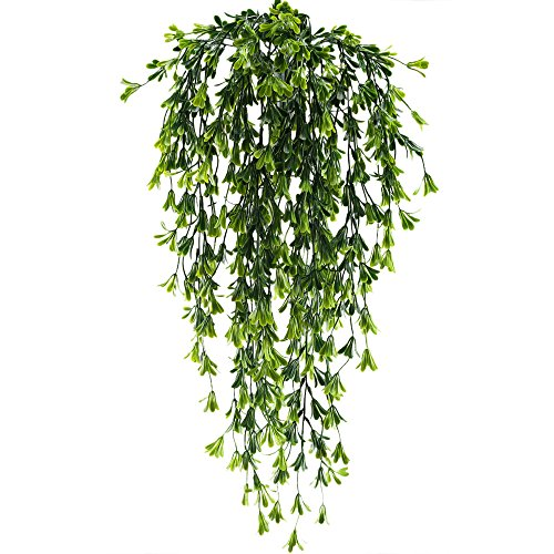 HUAESIN 2pcs Fake Vines Hanging Plants Artificial Greenery Faux Trailing Plants Climbing Vines for Indoor Outside Wedding Fence Balcony Garland Hanging Basket Decor by HUAESIN