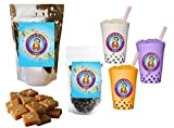 10+ Drinks Caramel Boba Tea Kit: Tea Powder, Tapioca Pearls & Straws By Buddha Bubbles Boba