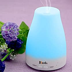 BEETLA Aromatherapy Essential Oil Diffuser 7 colors - 120 ml Portable Ultrasonic Cool Mist Aroma Humidifier with changing Colored LED Lights, Waterless Auto Shut-off and Adjustable Mist mode