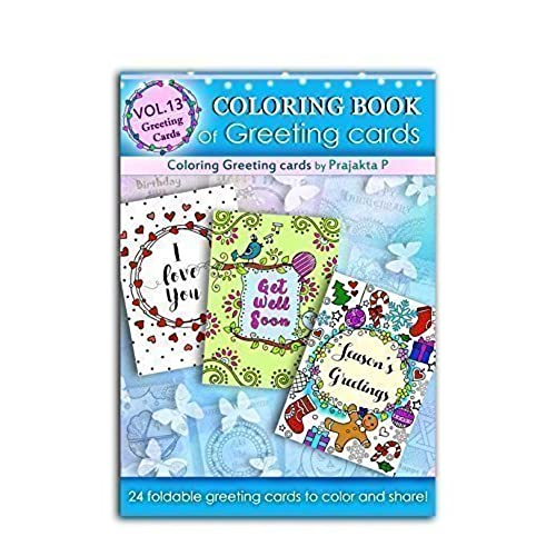 Handmade greeting cards amazon coloring book of greeting cards 24 handmade foldable greeting cards to color spiral bound paperback m4hsunfo