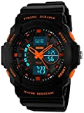 Fanmis Men's Womens Multi-function Cool S-shock Sports Watch LED Analog Digital Waterproof Alarm - Orange