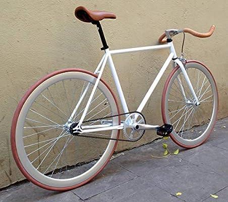MOWHEEL Bicicleta Fixie Monomarcha Single Speed FB-01 Talla-50cm ...