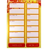 A5 Grocery List & Meal Planner Notepads - Stars Design - High Quality - 100 Sheets Per Pad - Almost 2 Years Worth of Weekly Planning