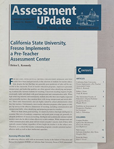 Assessment Update: Progress, Trends, and Practices in Higher Education, Volume 12, Number 5, 2000(AU
