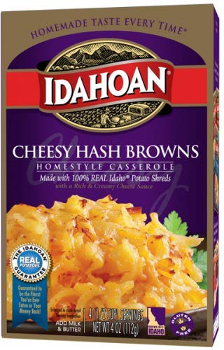 Idahoan Homestyle Casserole Cheesy Hashbrown Potatoes 4 oz (Pack of 4)