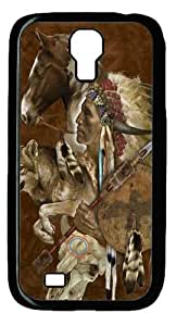 diy phone caseCool Painting Wolf Spirit Warrior Polycarbonate Hard Case Cover for Samsung Galaxy S4/I9500diy phone case