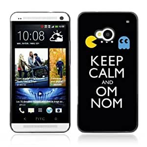 YOYOSHOP [Keep Calm & Om Nom] HTC One M7 Case