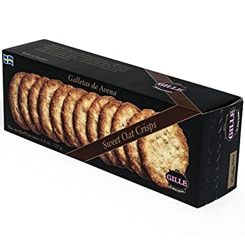 Swedish Sugared Oat Crisp Biscuits by Gille (4.4 ounce)