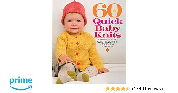 d0af77558a00 Amazon.com  60 Quick Baby Knits  Blankets
