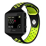 Fitbit Blaze Watch Band Accessory, VODKE Silicone Breathable Replacement Band/Strap with New Frame