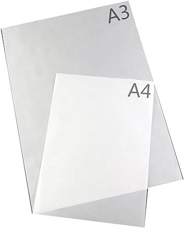 A3 A4 75 G de mantequilla FANDI papel translúcido papel de copia 20 piezas White A4 20Pcs White A4 20Pcs: Amazon.es: Hogar