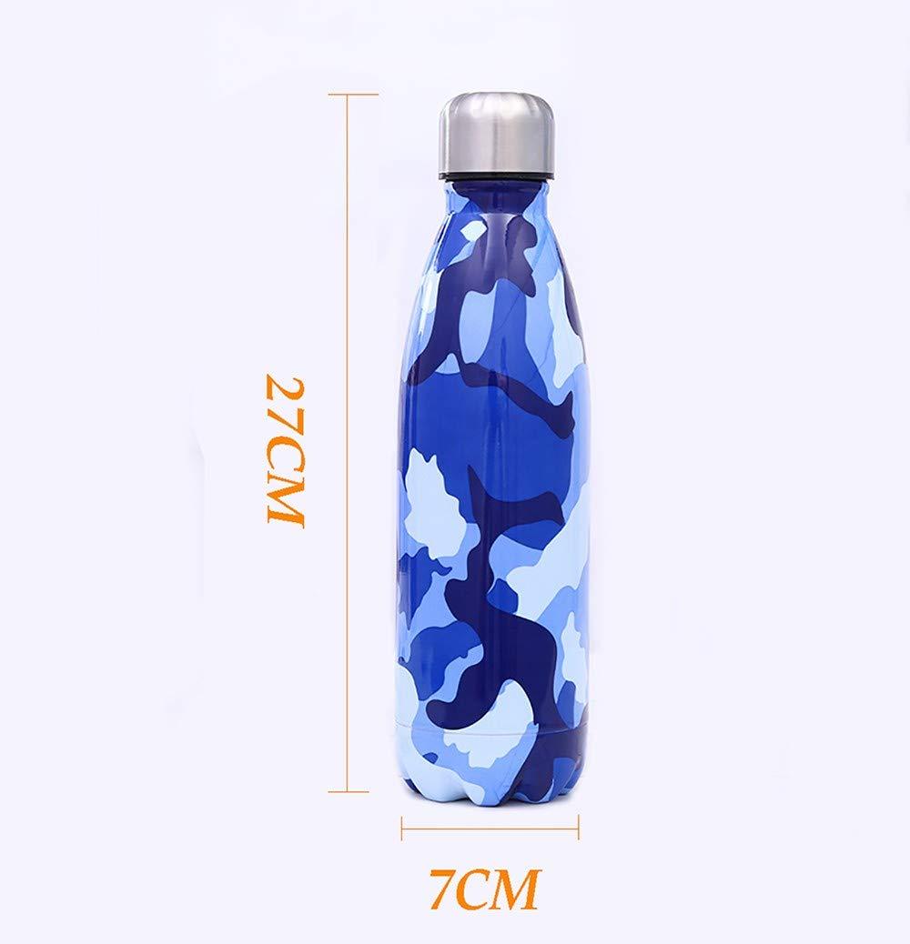 LOHOX Camuflaje Botella de Agua 17oz Acero Inoxidable 18//8 Doble Pared vac/ío Botella a Prueba de Fugas Mantiene Caliente y fr/ío Bebidas para Ni/ños Deporte,Oficina,Yoga,Gimnasio,Ciclismo