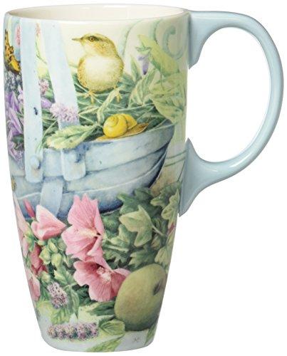 Lang Basket Of Flowers Latte Mug by Lisa Kaus, Multicolored