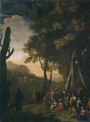 'Swanevelt Herman Van Paisaje Con Ermitano Predicando 1639 41 ' Oil Painting, 30 X 41 Inch / 76 X 103 Cm ,printed On Polyster Canvas ,this Amazing Art Decorative Prints On Canvas Is Perfectly Suitalbe For Foyer Decoration And Home Artwork And Gifts