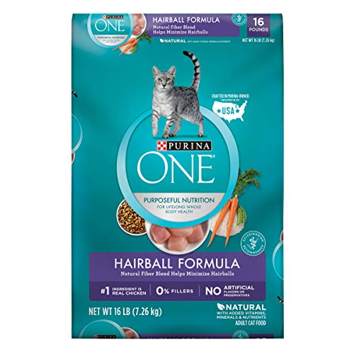 Purina One Hairball Formula Adult Dry Cat Food - 16 Lb. Bag