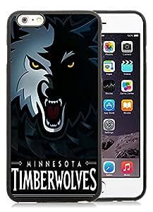 New Custom Design Cover Case For iPhone 6 Plus 5.5 Inch Minnesota Timberwolves 5 Black Phone Case
