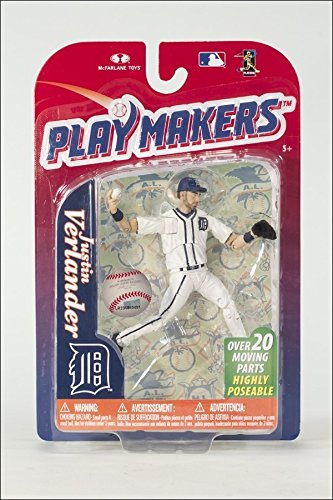- McFarlane Toys MLB Playmakers Series 4 Justin Verlander - Detroit Tigers 4 inch AF