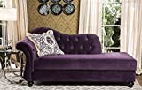 """Furniture of America SM2222-CE Antoinette Purple Chaise Sofás tapizados / Sillones / Sillones, 39 """"H"""