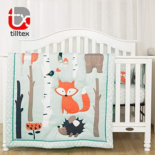 Tailored Baby- 4 Piece Woodland Nursery Bedding Set, Gender Neutral Nursery Baby Crib Bedding Set