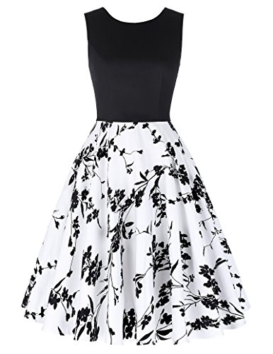 GRACE KARIN 50s Dress Contrast A-line Wedding Dress Size S ()