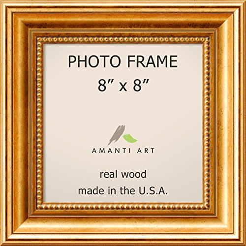 Amazoncom Picture Frame 8x8 Townhouse Gold Wood Outer Size 11