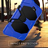 Samsung Galaxy Tab A 10.1 Case(SM-T580),3in1 Slim Heavy Duty Shockproof Rugged Armor Three Layer Hard PC+Silicone Hybrid High Impact Resistant Defender Full Body Protective Cover with Screen Protector