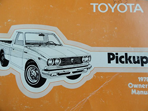 1978 Toyota Truck Owners Manual