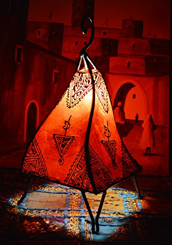 Henna Lamps & Sconces Moroccan Hand made Leather lamp henna tattoo African Red