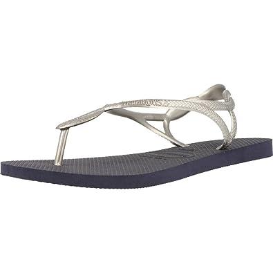 c60df9ab4558 Havaianas HAV Luna Sandals 11-12 M US Little Kid Navy Silver