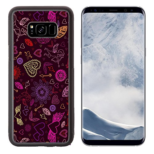 Luxlady Samsung Galaxy S8 Plus S8+ Aluminum Backplate Bumper Snap Case IMAGE ID: 43732941 Happy Valentines signs on the bordo (Happy Birthday Sig)