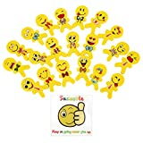 Sucastle Emoji Erasers Fun Cute Pencil Erasers for Kids, Great for Rewards, Party Favors, Birthdays, School Prizes, 20-Pack