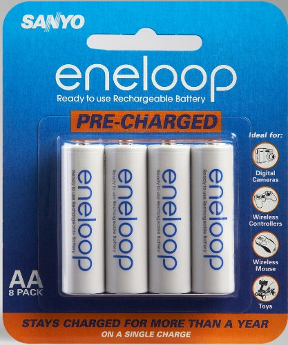 - Sanyo Eneloop AA NiMH Pre-Charged Rechargeable Batteries - 8 Pack (Discontinued by Manufacturer)