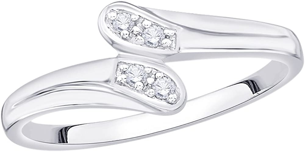 1//20 cttw, Size-3 G-H,I2-I3 Diamond Wedding Band in 14K White Gold