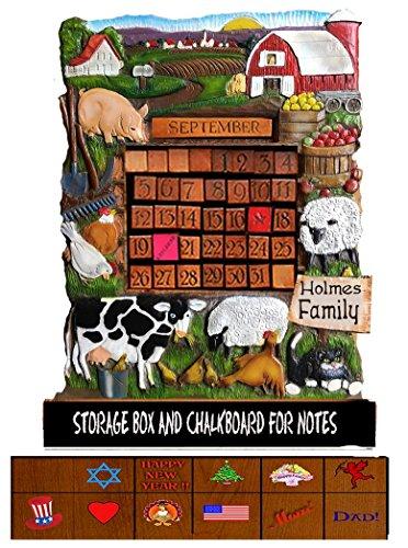 Farm Theme Perpetual Personalized Calendar