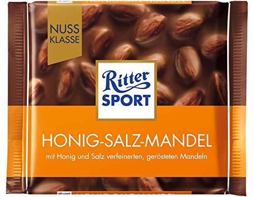 (Ritter Sport Honey Salt Almonds Chocolate Bar Candy Original German Chocolate 100g/3.52oz)