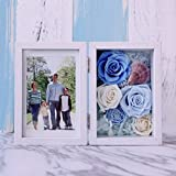 Immortal Flower Photo Frame Gift Box/Roses Creative Photo Frame Ornaments-A
