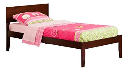 Atlantic Furniture Orlando Open Foot Bed, Twin, Antique Walnut - Amazon.com: Atlantic Furniture Orlando Open Foot Bed, Twin, Antique