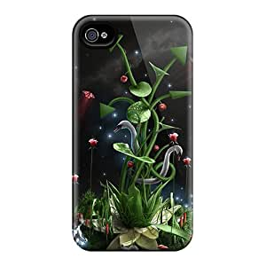 Iphone 4/4s Hard Back With Bumper Silicone Gel Tpu Case Cover Superb Life Fantasy Scenary