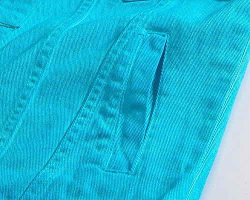 Ocasional Mangas Mezclilla Chaleco Chaqueta Chaleco Azul Chaqueta Sin Hombre Del De De Jean La HwgqSEU