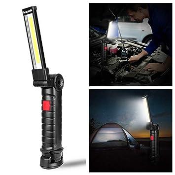 5 Modi tragbare LED COB Auto Reparatur Arbeit Licht Haken Lampe Taschenlampe
