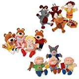 Storybook Puppet Sets Featuring Golidlocks And The Three Bears, Three Billy Goast Gruff And The Three Little Pigs