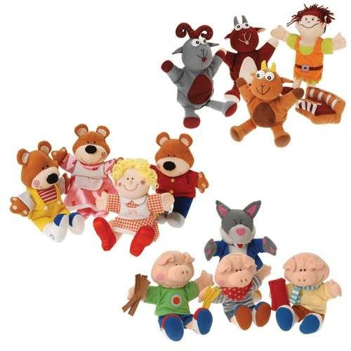 Storybook Puppet Sets Featuring Golidlocks And The Three Bears, Three Billy Goast Gruff And The Three Little Pigs by Constructive Playthings
